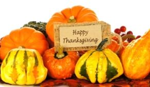images of gourds and happy thanksgiving sign