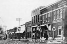 image of Redfield Iowa in the early days of settlement
